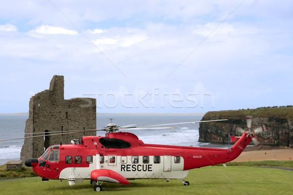 Mare salvataggio atterraggio elicottero missione Irlanda Foto d'archivio © morrbyte