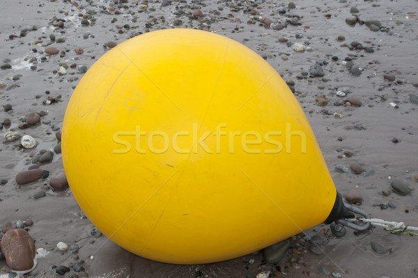 giant yellow buoy Stock photo © morrbyte