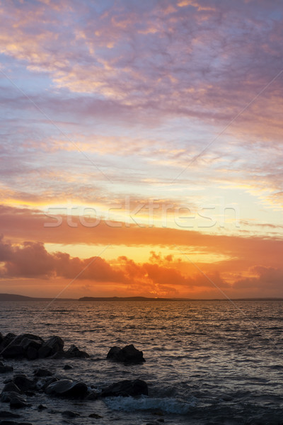 sunset and calm water at beal beach Stock photo © morrbyte