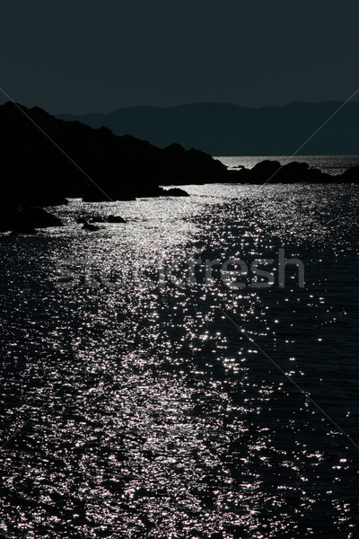 tranquil rocky kerry night view Stock photo © morrbyte
