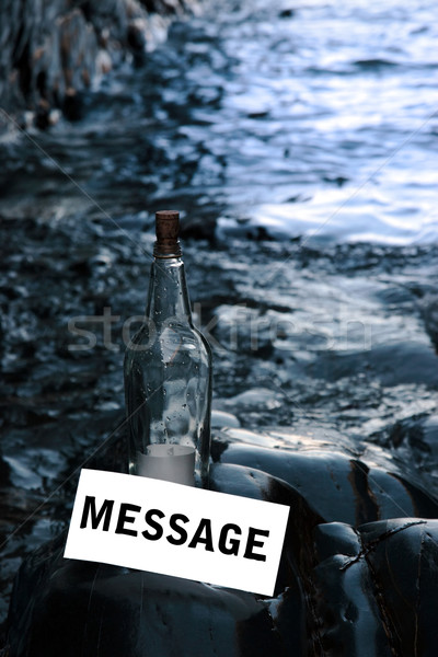 message by bottle Stock photo © morrbyte