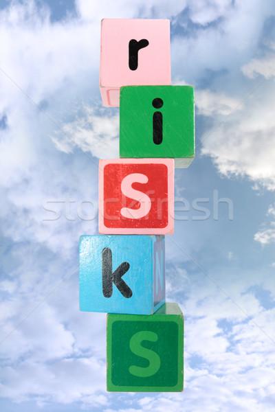 Felhős játék játék levelek vágási körvonal levél Stock fotó © morrbyte