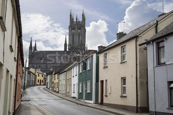 Residenziale strada scena Irlanda bella città Foto d'archivio © morrbyte