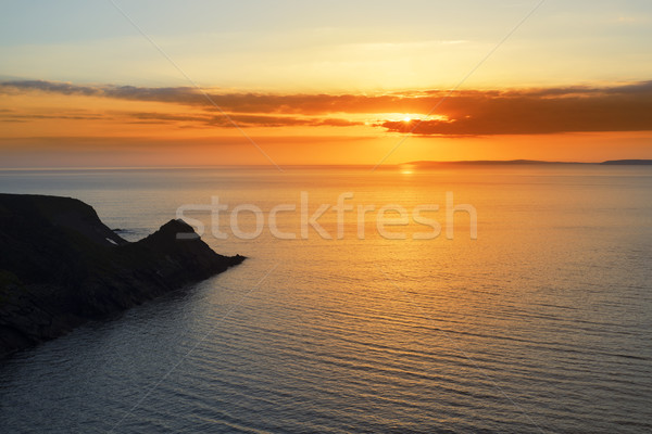 beautiful serene sunset over loop head Stock photo © morrbyte