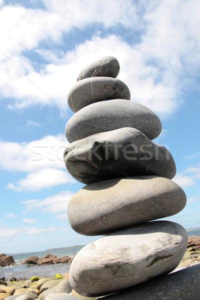 Zen баланса камней Top другой Сток-фото © morrbyte