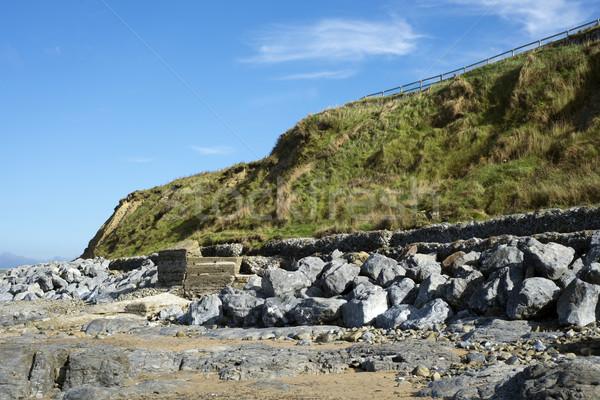 Foto stock: Belo · onda · praia · Irlanda · oceano · azul