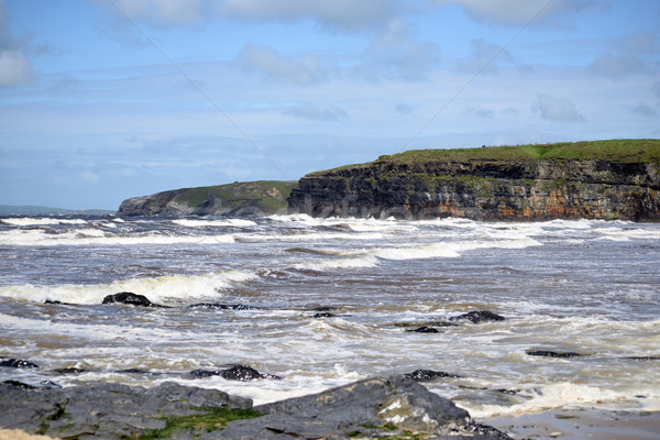 big waves and cliffs on the wild atlantic way Stock photo © morrbyte