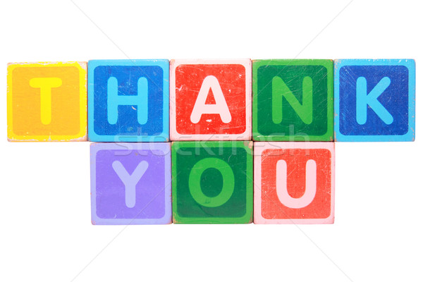 thank you in toy block letters Stock photo © morrbyte