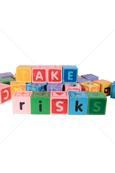 take risks in play blocks Stock photo © morrbyte