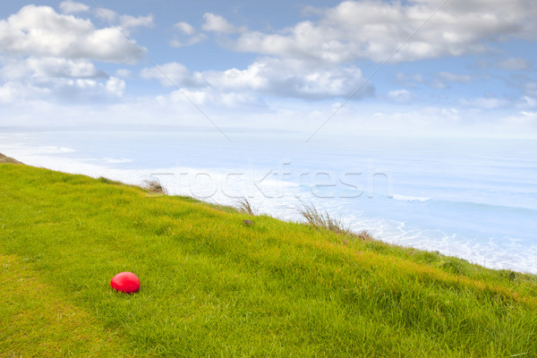 Vermelho pedra ligações campo de golfe céu nuvens Foto stock © morrbyte
