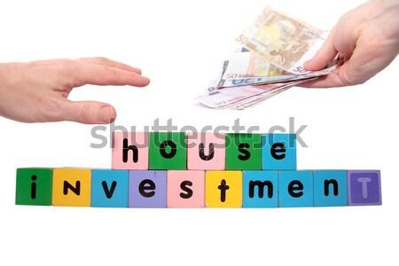 ízület ház beruházás játék levelek varázsige Stock fotó © morrbyte