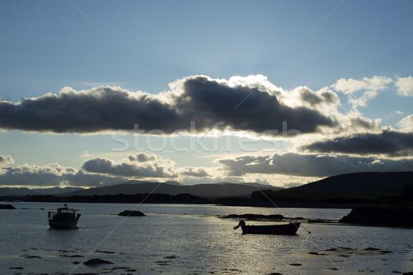 Barche tranquillo tramonto selvatico modo Foto d'archivio © morrbyte