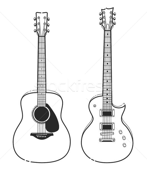 Electric and Acoustic Guitars Stock photo © morys
