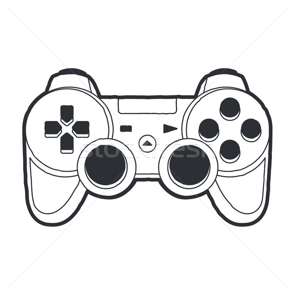 Joystick vektör sanat gamepad yalıtılmış beyaz Stok fotoğraf © morys