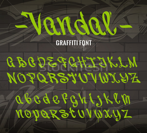 Vandal Graffiti Font Stock photo © morys