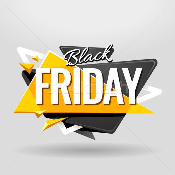 Black friday steag geometric sablon de design material proiect Imagine de stoc © morys