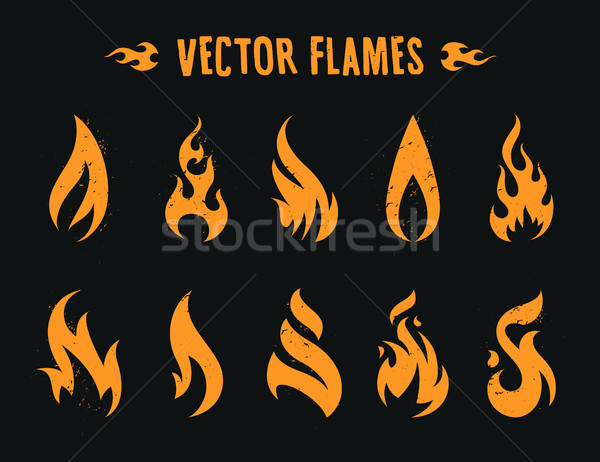 火災 アイコン ベクトル 炎 セット 異なる ストックフォト © morys