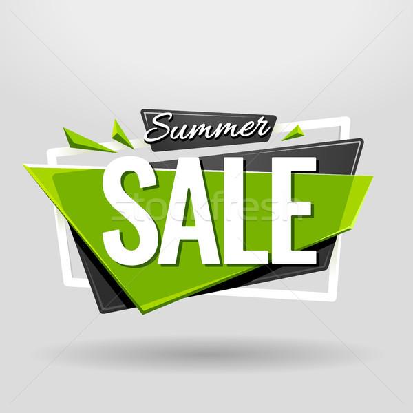 夏 販売 幾何学的な バナー デザインテンプレート 素材 ストックフォト © morys