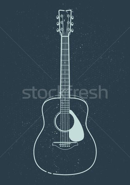 вектора стиль гитаре искусства Сток-фото © morys