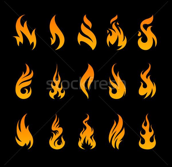 ベクトル 火災 アイコン 異なる ストックフォト © morys