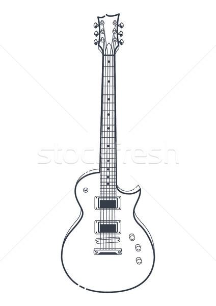 электрической гитаре вектора стиль гитаре искусства Сток-фото © morys