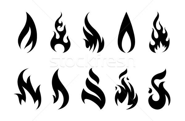 ベクトル 火災 アイコン 炎 セット 異なる ストックフォト © morys