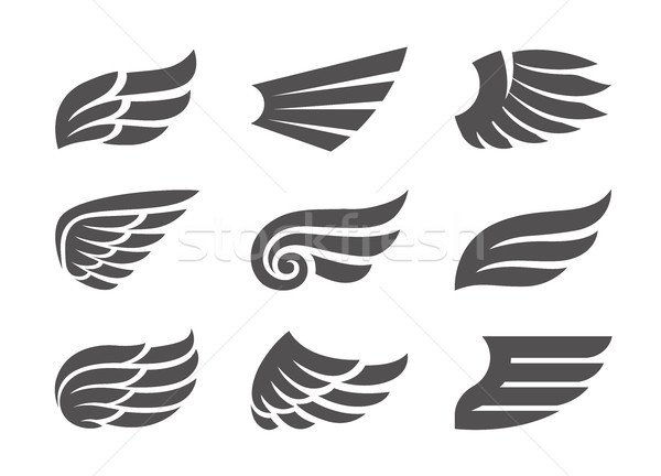 Set of Vector Wings Stock photo © morys