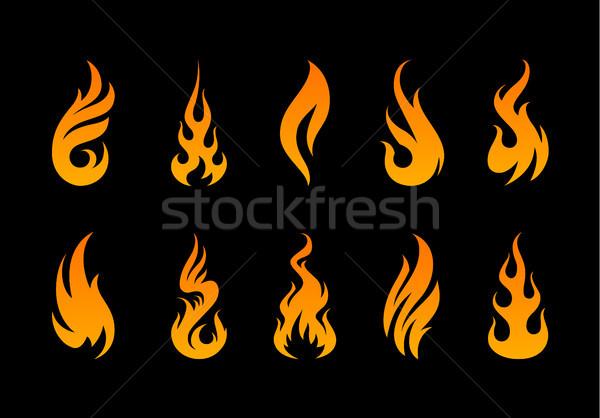 ベクトル 難 炎 セット 異なる ストックフォト © morys