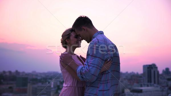 Amoroso tipo hermosa dama abierto Foto stock © motortion