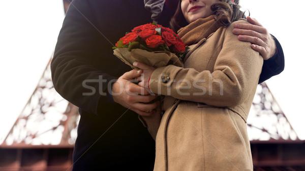 Uomo amato donna nice fiori Foto d'archivio © motortion