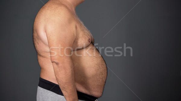 Adam yağ sağlıksız gıda bağımlılık Stok fotoğraf © motortion