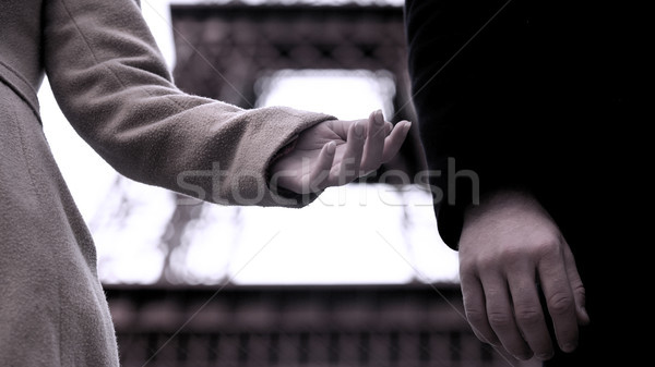 End of relationship between man and woman, hands of breakup couple, divorce Stock photo © motortion