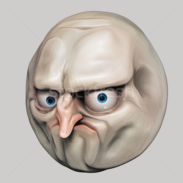 Internet meme No. Rage face 3d illustration Stock photo © motttive