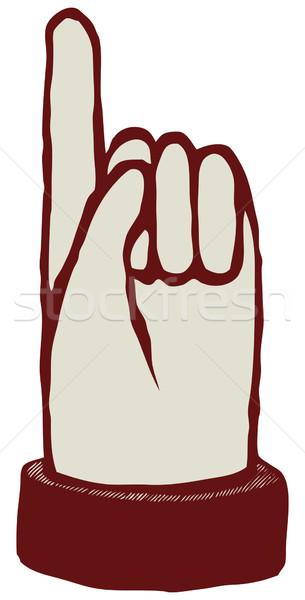 Senalando mano hasta dedo vector icono Foto stock © motttive