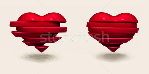 Foto stock: Día · de · san · valentín · ilustración · resumen · amor