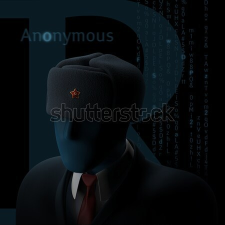 Anoniem russisch computer hacker duisternis 3d illustration Stockfoto © motttive