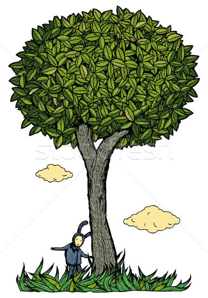 Nino árbol color jugar Foto stock © motttive