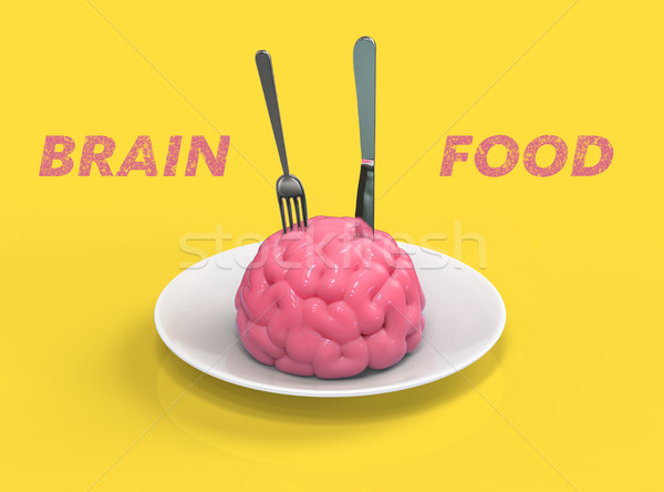 Stock photo: Brain food 3D illustration