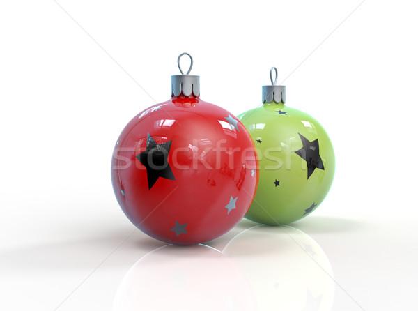 クリスマス プラスチック おもちゃ 孤立した 安物の宝石 3D ストックフォト © motttive