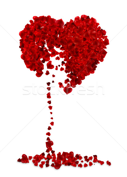 Broken heart illustration Stock photo © motttive