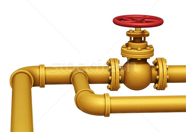 Gas pipe valve illustration. Isolated on white Stock photo © motttive