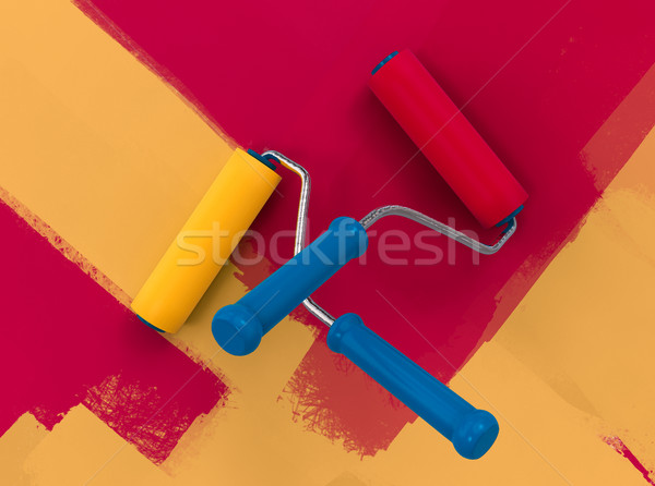 Familia color pared pintura 3D Foto stock © motttive