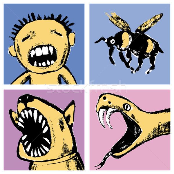 Foto stock: Ilustración · peligro · animales · insectos · humanos