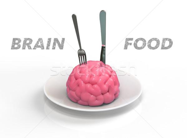 Brain food 3D illustration Stock photo © motttive