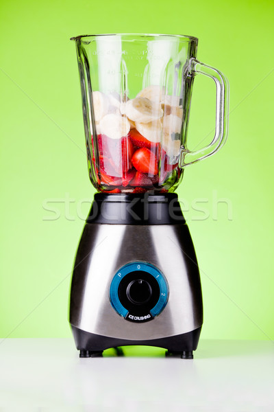 Strawberries And Bananas In A Mixer Stock photo © mpessaris