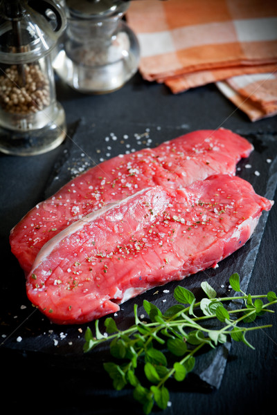 Rib Eye Steak With Spices Stock photo © mpessaris