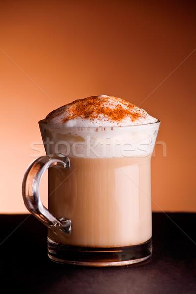 Chaud cappuccino tasse café alimentaire Photo stock © mpessaris