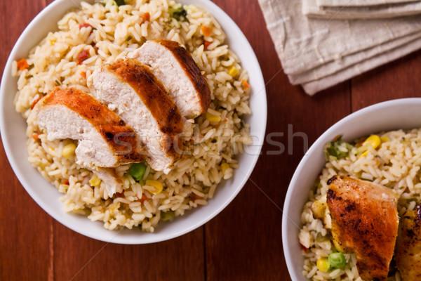 Сток-фото: тайский · куриные · фотография · еды · риса