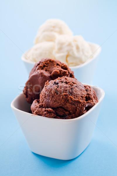Crème glacée photographie bol blanche Photo stock © mpessaris