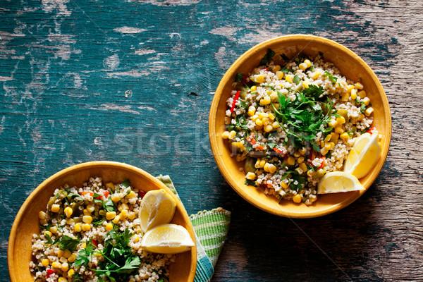 Bulgur And Vegetables Salad Stock photo © mpessaris
